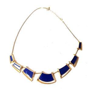 Blue costume jewelry necklace